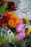 Bouquet with autumn flowers stock photos