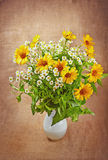 The bouquet of autumn flowers Royalty Free Stock Photography
