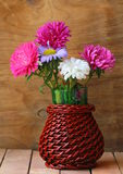 Bouquet of autumn flowers in vase Royalty Free Stock Images