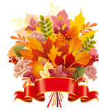 Bouquet of autumn leaves Royalty Free Stock Photo
