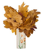 Bouquet autumn leaves Royalty Free Stock Photo