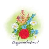 Bouquet avec des roses et des marguerites Photos libres de droits