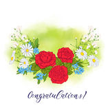 Bouquet avec des roses et des marguerites Images libres de droits