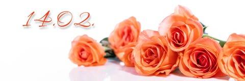 Bouquet avec la date Image stock