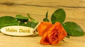 Bouquet avec le texte en allemand Image stock