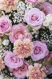 Bouquet avec les fleurs en pastel Photos libres de droits