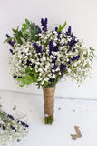 Bouquet of baby's breath with eucalyptus and lavender Stock Photography