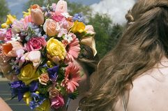 Bouquet from back 2 royalty free stock photos