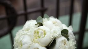 Bouquet on balcony stock video