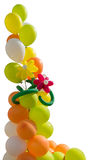Bouquet of balloons. Bouquet of bright, colorful balloons on a white background Royalty Free Stock Image