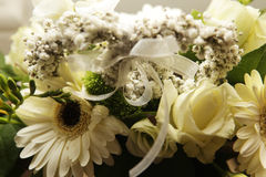 Bouquet in a basket Royalty Free Stock Images