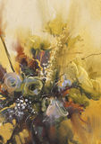 Bouquet of beautiful flowers. Painting showing bouquet of beautiful flowers Stock Photos