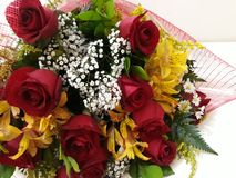 Bouquet with beautiful flowers to gift someone special. Someday royalty free stock image