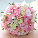 Bouquet of beautiful flowers. Wedding bouquet of beautiful flowers Royalty Free Stock Images
