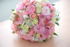 Bouquet of beautiful flowers. Wedding bouquet of beautiful flowers Stock Photos