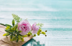 Bouquet of beautiful fresh flower artificial with paper. Stock Image