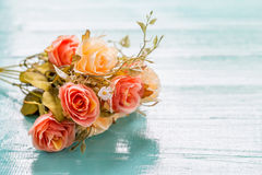 Bouquet of beautiful fresh flower artificial with paper Stock Photo