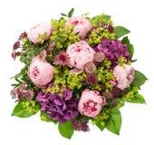 Bouquet of beautiful pink peony flowers/ Stock Photo