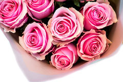 Bouquet of beautiful pink roses Stock Images