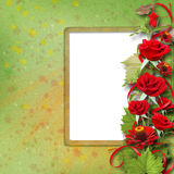 Bouquet of beautiful red roses for greeting card Stock Photo