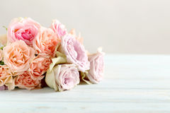 Bouquet of beautiful roses Royalty Free Stock Images