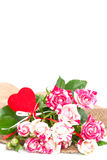 Bouquet of beautiful roses. Royalty Free Stock Photo