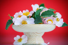 Bouquet of beautiful wild roses Stock Photo