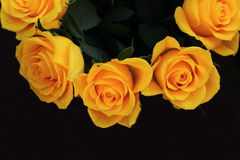 A bouquet of beautiful yellow roses, wedding bouquet Royalty Free Stock Photo