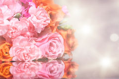 Bouquet Beauty Rose with reflection Stock Image