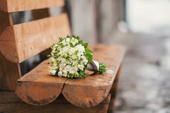 Bouquet on the bench Stock Photo
