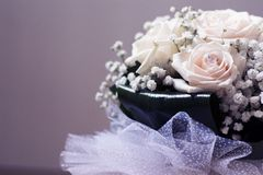 Bouquet blanc de mariage Image libre de droits
