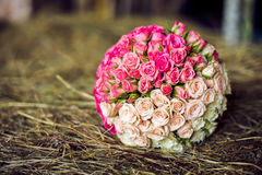 Bouquet blanc et rose yin-Yang Photographie stock
