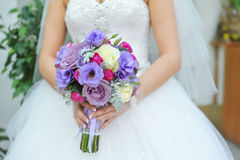 Bouquet bleu et blanc de mariage Images libres de droits