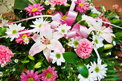 Bouquet of blooming flowers royalty free stock photos