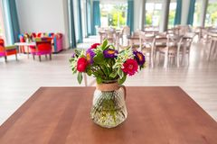 Bouquet of blossom flowers. On the table Royalty Free Stock Images