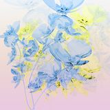 Bouquet of blue orchids Royalty Free Stock Photos