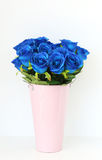 Bouquet of blue rose flowers Royalty Free Stock Images