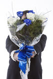 Bouquet of blue roses Royalty Free Stock Image