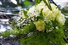 Bouquet on bonnet cowl Stock Images