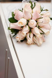 Bouquet of the bride. On the white table Royalty Free Stock Images