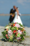 Bouquet, Bride And Groom Royalty Free Stock Photos