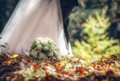 Bouquet of the bride- beautiful flowers Stock Photography