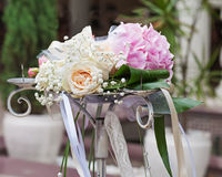 Bouquet for bride on natural background. Stock Photos