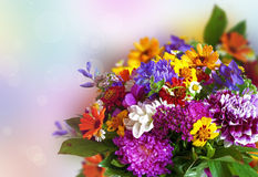 Bouquet of bright colorful flowers Stock Photo