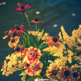 Bouquet of bright colorful summer flowers Stock Photography