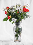 Bouquet of bright flowers in vase royalty free stock images