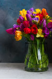 Bouquet of bright spring flowers Stock Images