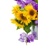 Bouquet of bright sunflowers Royalty Free Stock Images