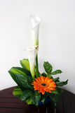 Bouquet with callas and gerbera Stock Image