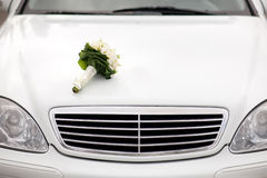 Bouquet on the car Stock Photo